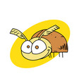 funny bug vector image