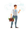 happy businessman vector image