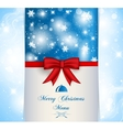 Merry Christmas menu vector image