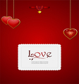Valentine card with heart pendant and bow vector image