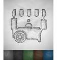 shop on wheels icon vector image vector image