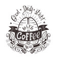 banner with coffee bean and quote vector image