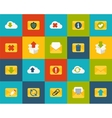 Flat icons set 7 vector image