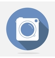 Retro Camera Blue Icon vector image
