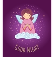Good Night Angel vector image
