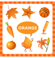 Learning Orange color vector image