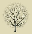 dark brown silhouette of a tree on a light vector image