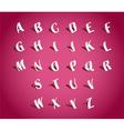 Paper Alphabets vector image