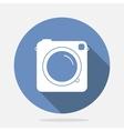 Retro Camera Blue Icon vector image