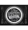 Bon Appetit chalk vector image