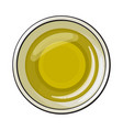bowl of natural oil massage top view sketch vector image