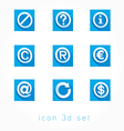 set of icons 3d vector image