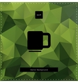 Green tea polygonal background vector image