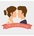 Wedding cute card vector image