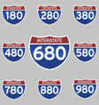 INTERSTATE SIGNS 180-980 vector image