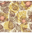 Fruits pattern physalis background vector image vector image