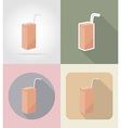 food objects flat icons 10 vector image