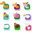 farm animals - icon vector image