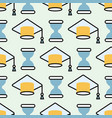 graduation cap seamless pattern student success vector image