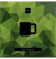 Green tea polygonal background vector image