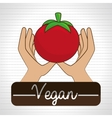 hand food vegan vegetables vector image
