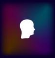 human head silhouette icon vector image