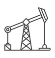 industrial oil and gas production linear icon vector image