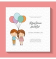 k icon Invitation and save the date design vector image