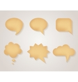 Paper cardboard speech bubbles set vector image