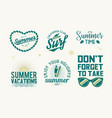 set of summer badges vector image