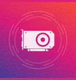 Video card icon vector image