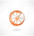 Wheel grunge icon vector image