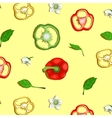 Paprika Sweet Pepper Seamless Background vector image