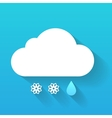 Day cloud snow flakes and rain drop isolated on vector image vector image