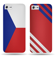Rear covers smartphone with flags of Czech Republi vector image