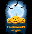 Grungy Background for Halloween Party vector image