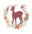 Floral design with deer vector image