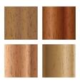 Set of wooden textures vector image