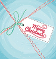 Christmas Greeting Card typography vector image
