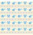 Elephant Blue Fun Pattern vector image