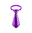 Purple striped tie isolated on white vector image