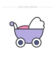 baby carriage flat icon vector image