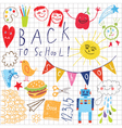 back to school pattern vector image