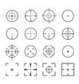 crosshairs icon set vector image