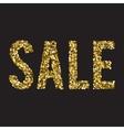 Gold glitter sale background vector image