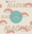maguro sushi seamless pattern vector image