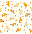 pattern with cartoon dogs vector image