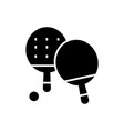 ping-pong icon black sign on vector image