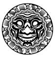 Round Smiling Face Polynesian Tattoo vector image