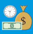 time and money salary vector image